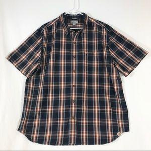 Carhartt Men's 2XL Short Sleeve Plaid Button Shirt